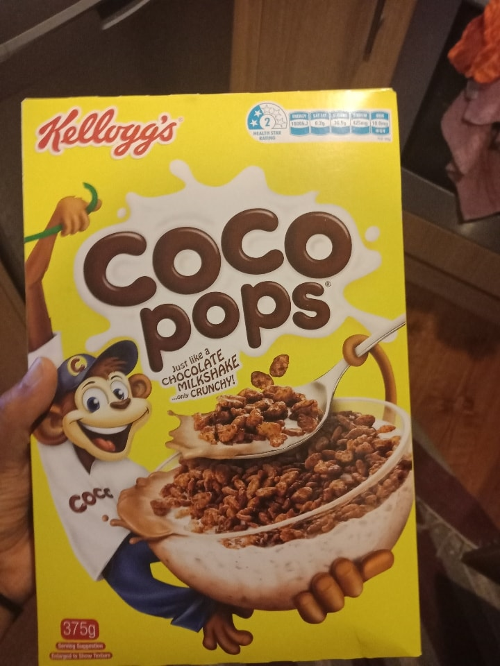 Coco pops opened.