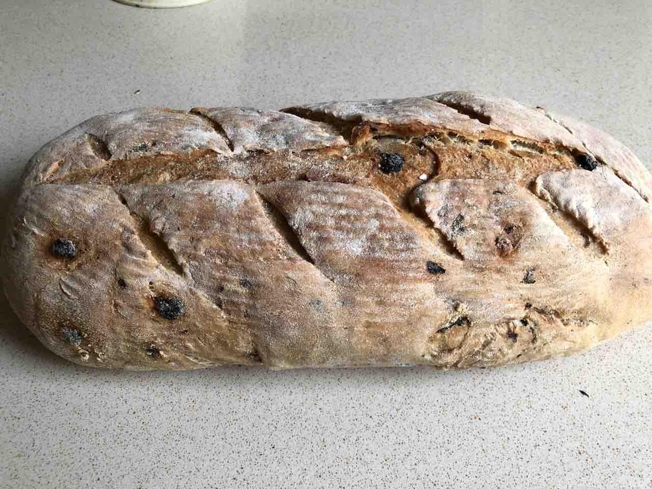 Raisin bread from Camden bakery