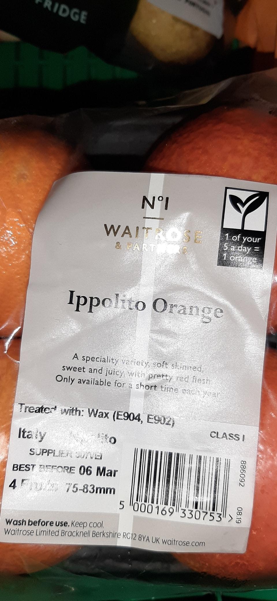 Ippolito oranges