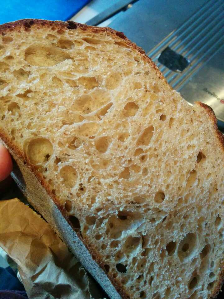 Half loaf of sourdough