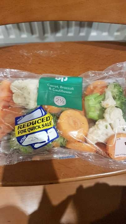 Carrot, broccoli and cauliflower