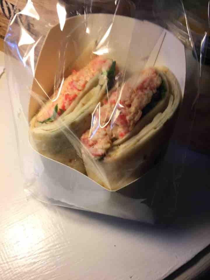 Mixed seafood wrap