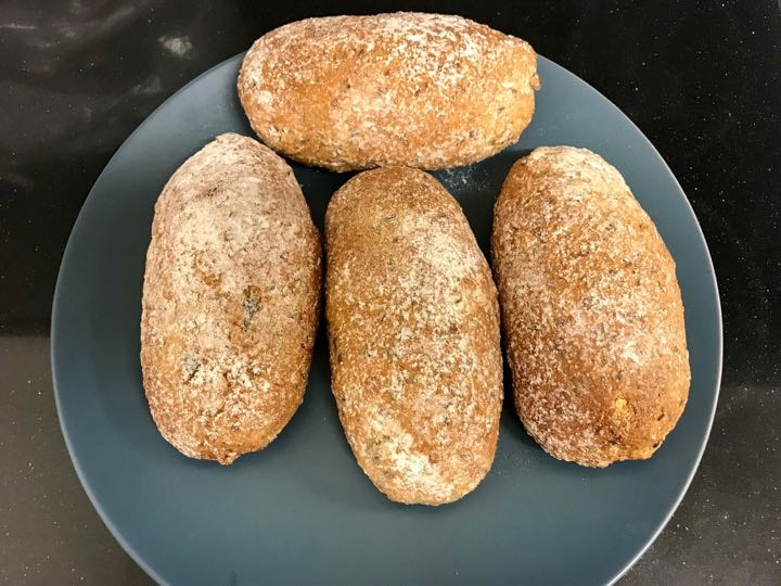 Fresh cereals rolls bread from Pesso