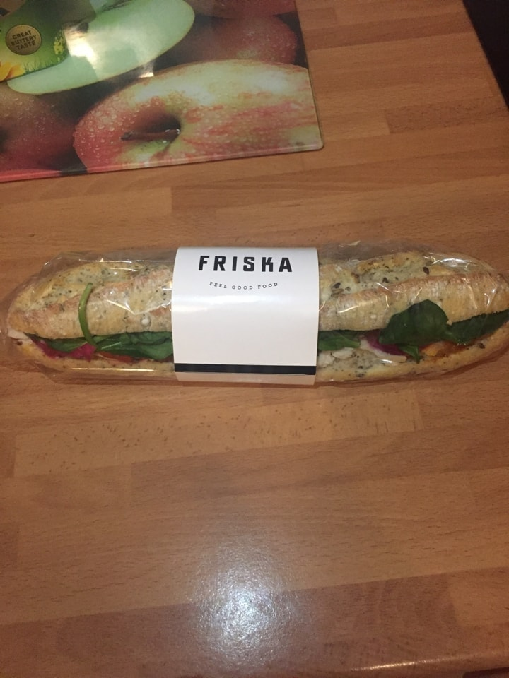 Chicken baguette from friska