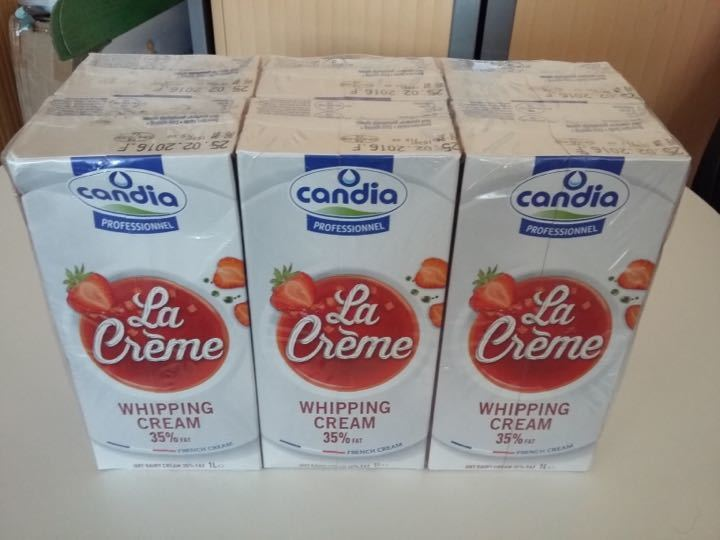 Over 250 Litres of UHT Whipping cream