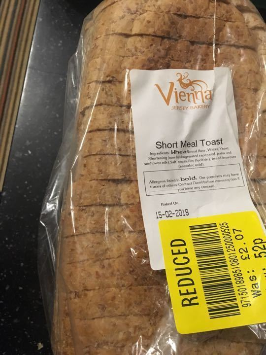 Vienna short meal toast loaf
