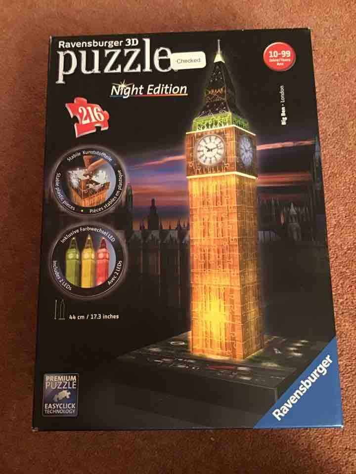 3D jigsaw puzzle....complete