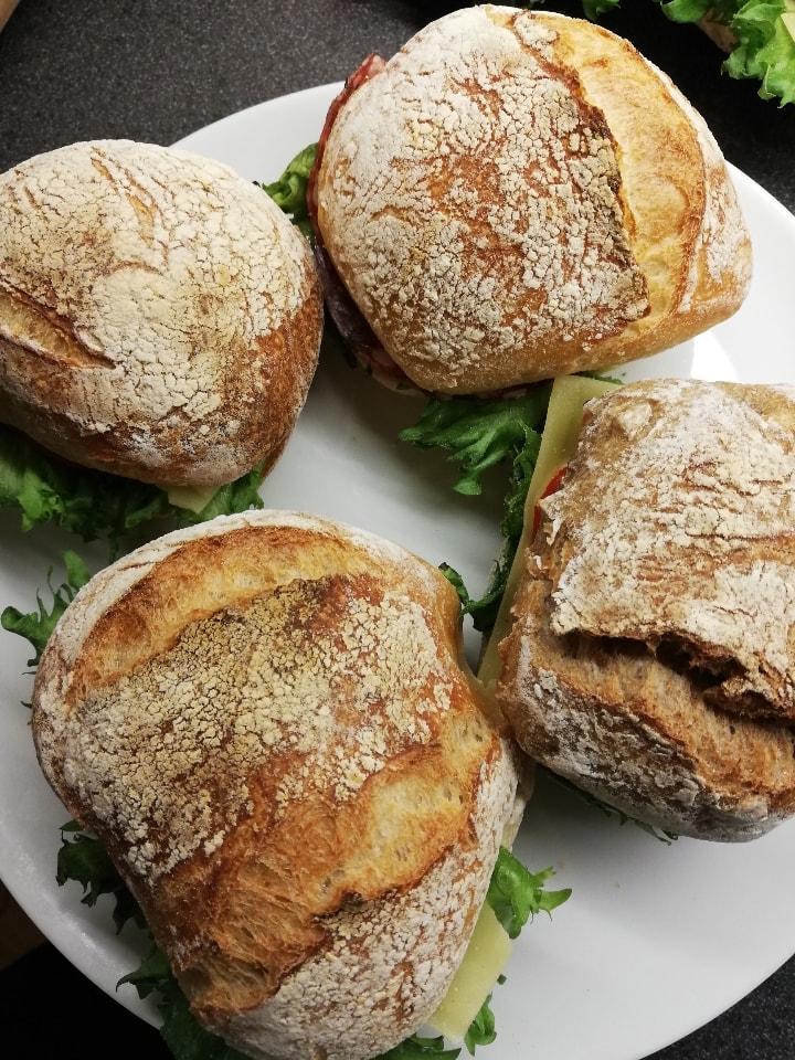 Fresh sandiwches with ham