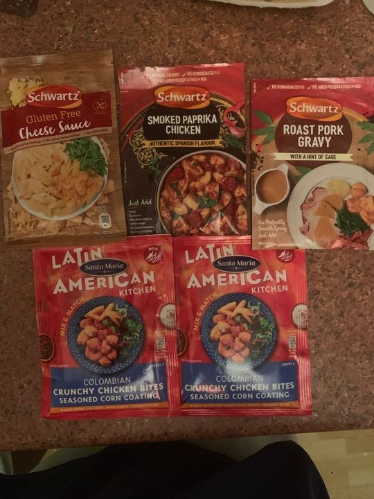 Assorted meal and sauce bases