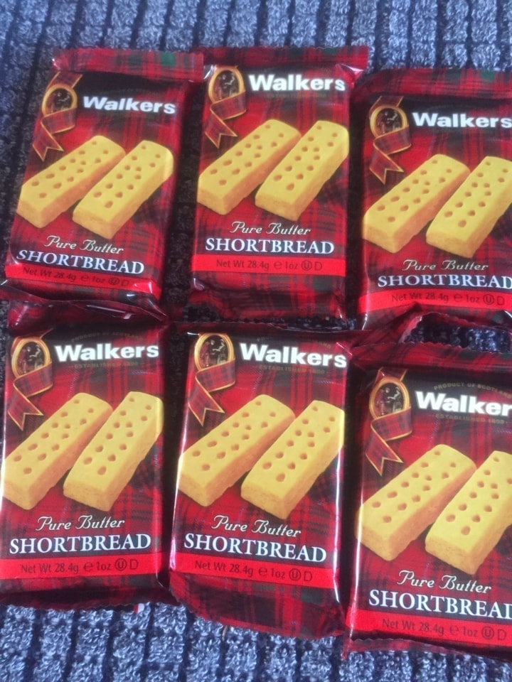 Shortbread biscuits one lot per person
