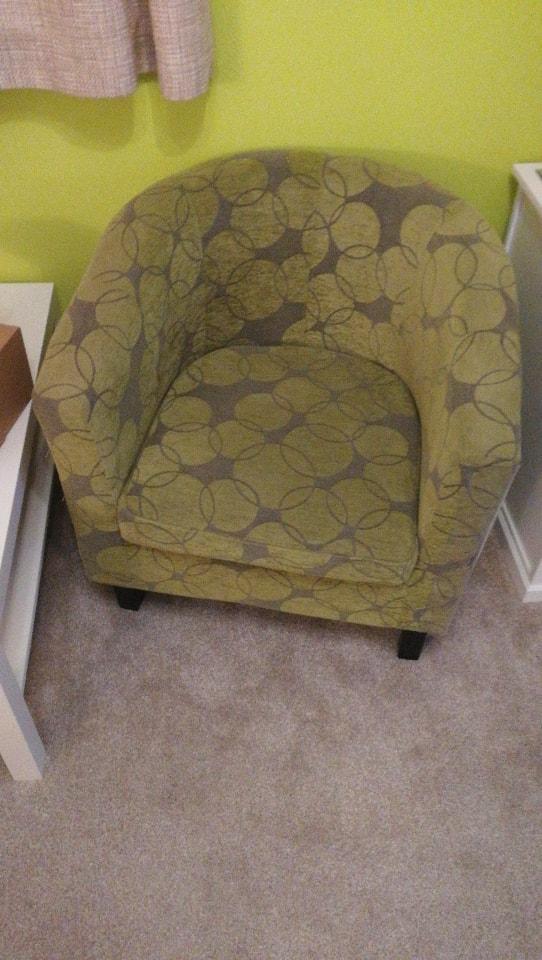 Green bucket chair