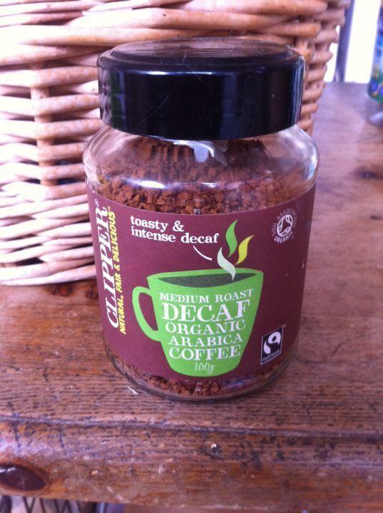 Clipper fair trade instant decaf coffee