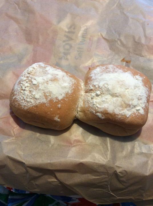 White floury buns
