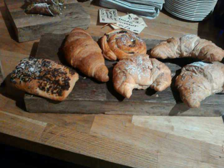 Selection of croissant (almond,pain au chocolate)