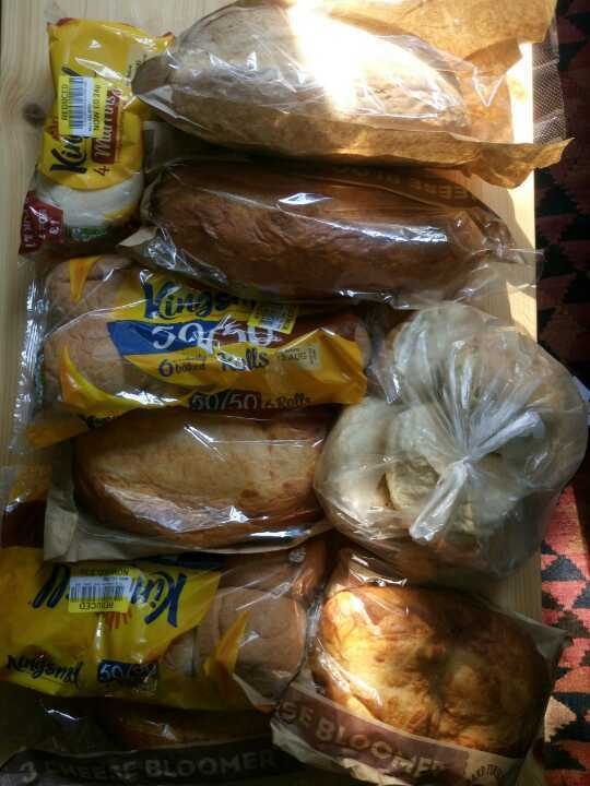 Breads from morning pick up