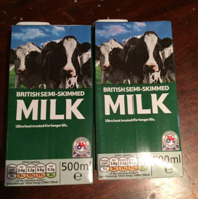 Semi skimmed milk