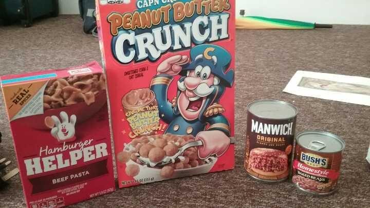 American food assortment