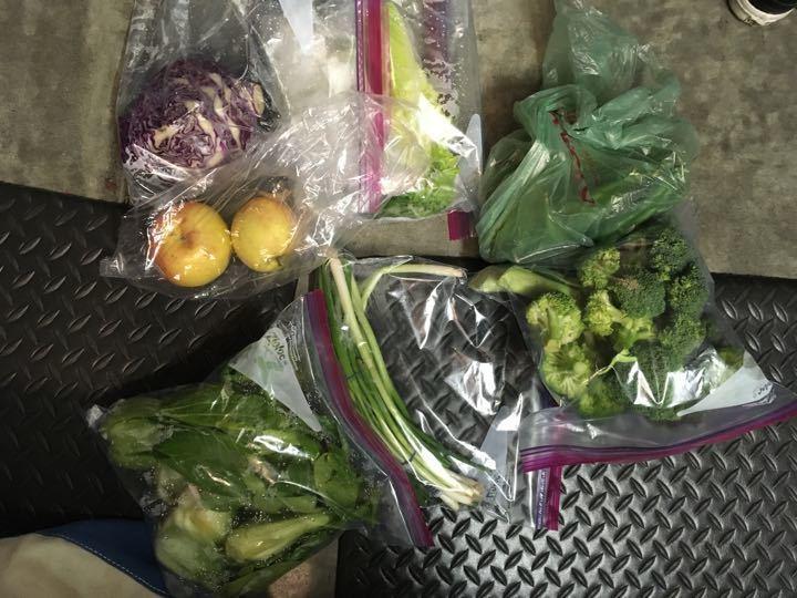 Free apples and veggies