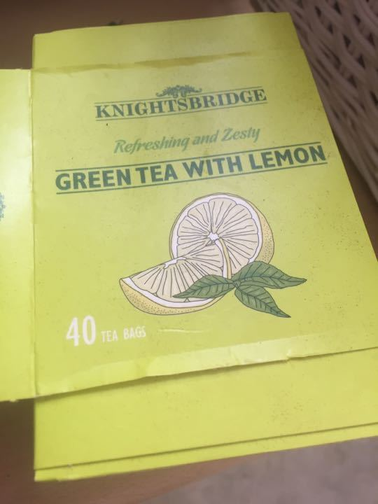 GREEN TEA WITH LEMON TEABAGS