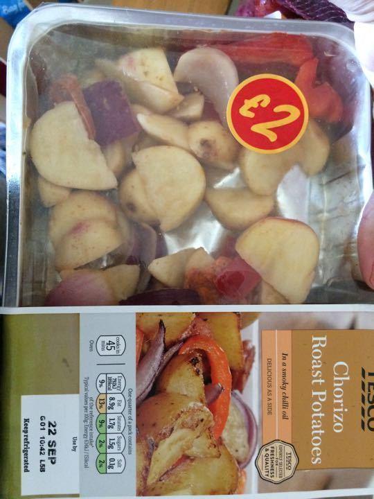 Chorizo roast potatoes