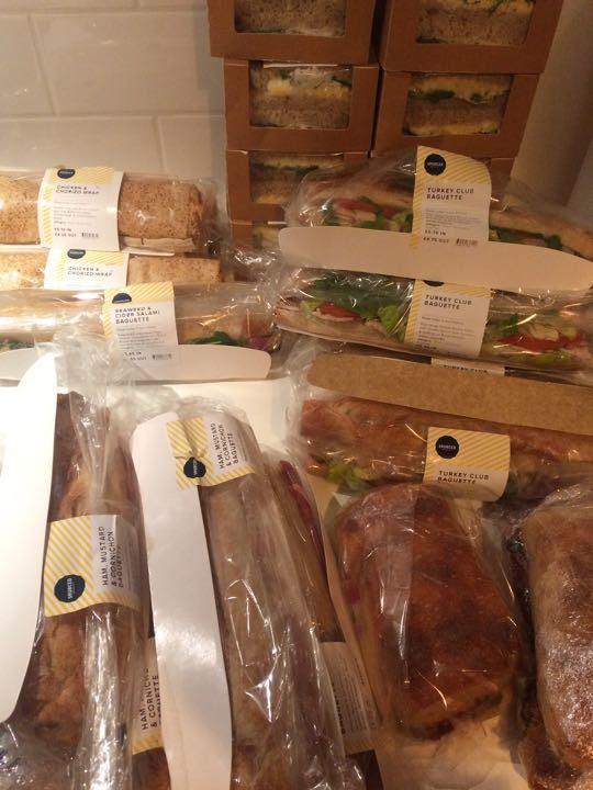 sandwiches - ham&cornichon x1 - egg mayo x1 - turkey club baguette x1